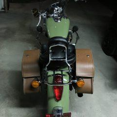 Justin Clark Honda Shadow Paint Job Army Green 4